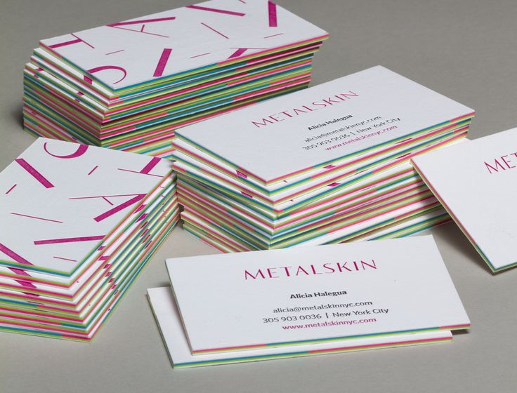 Layered Business Cards - Jukebox Print
