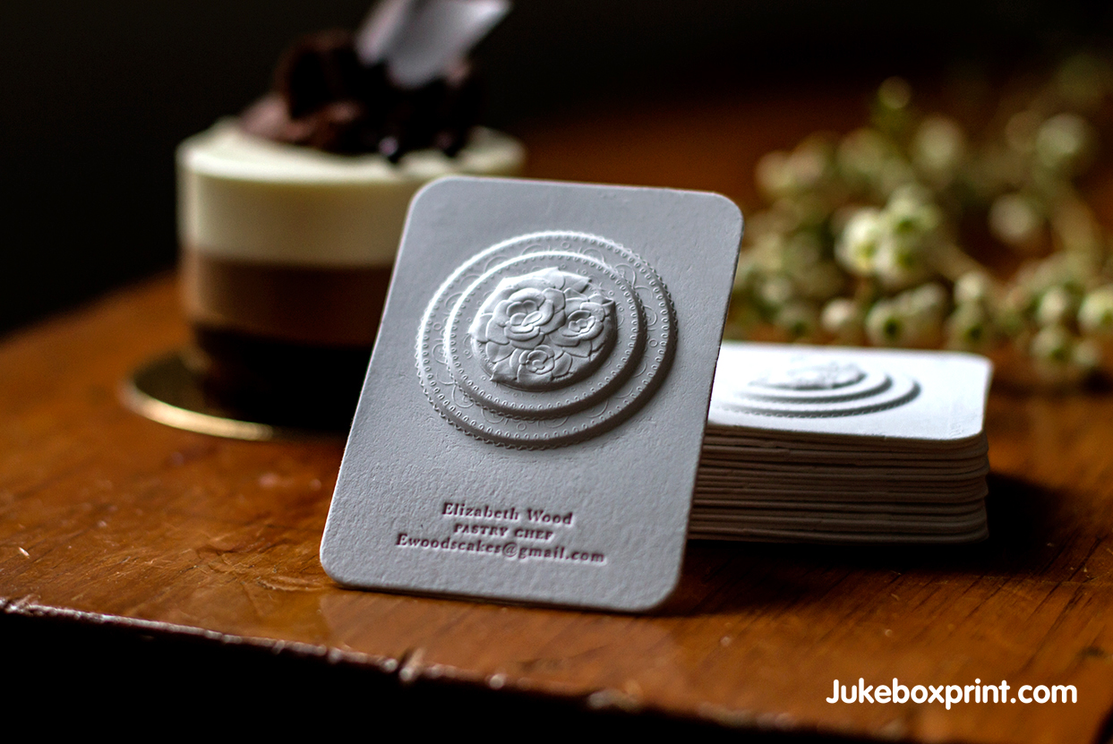 3D Embossed Business Cards Jukebox Print