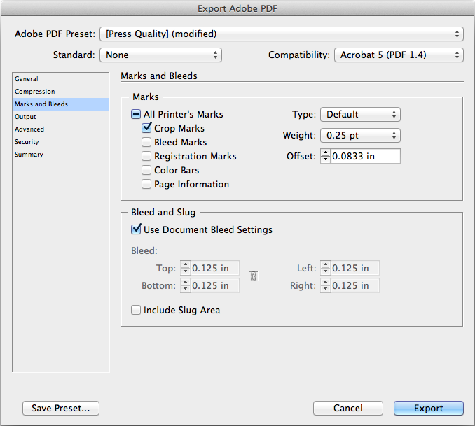 exporting a press ready pdf file from illustrator or indesign