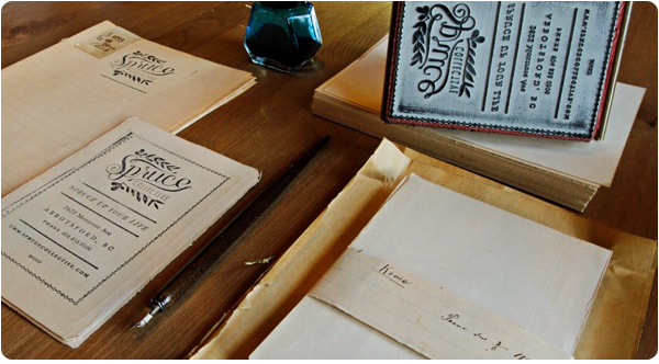 Submit a custom print request to receive a quote for your next project using vintage paper
